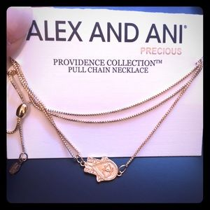NWT ALEX AND ANI Hand of Fatima Necklace
